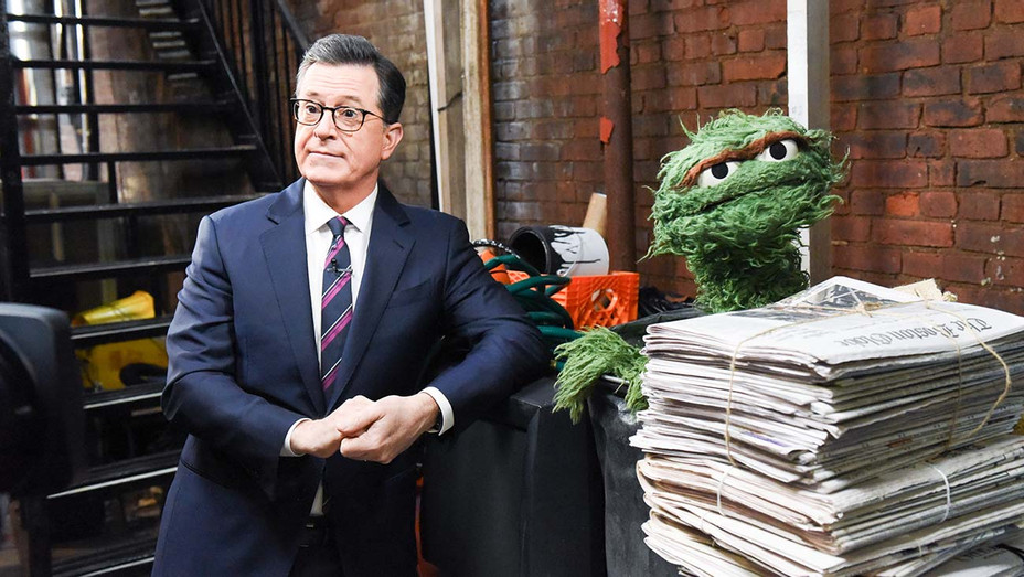 The Late Show-Stephen Colbert with Oscar the Grouch -Publicity-H 2019