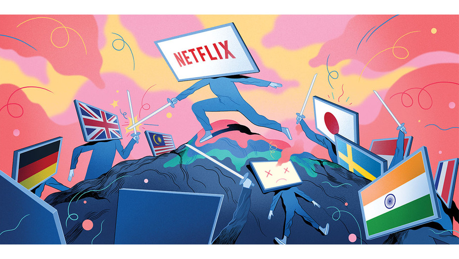 THR-Illustration-Illustration by Rune Fisker-hollywood_netflix_final_01-H 2019
