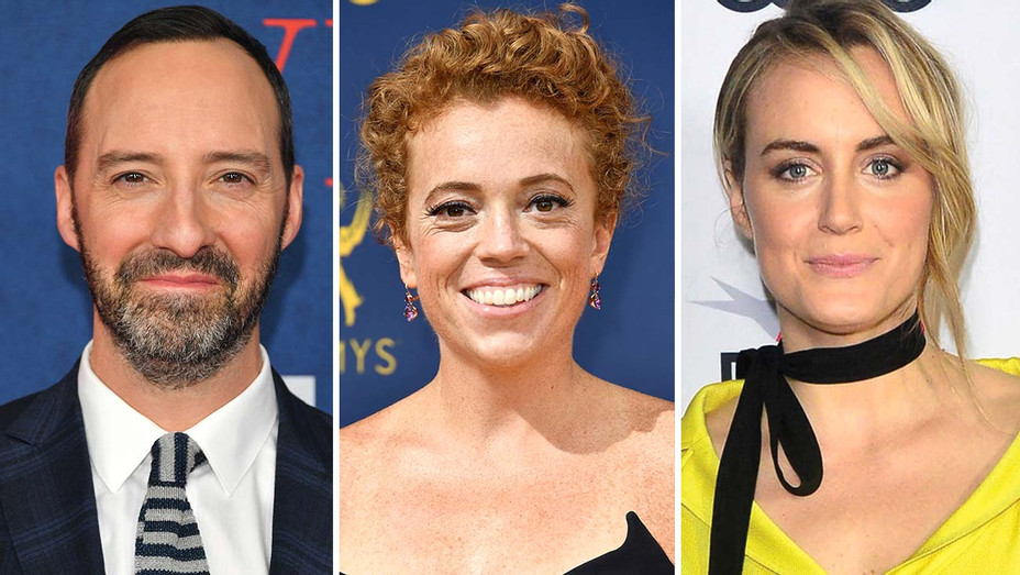 Tony Hale, Michelle Wolf and Taylor Schilling Split-Getty-H 2019