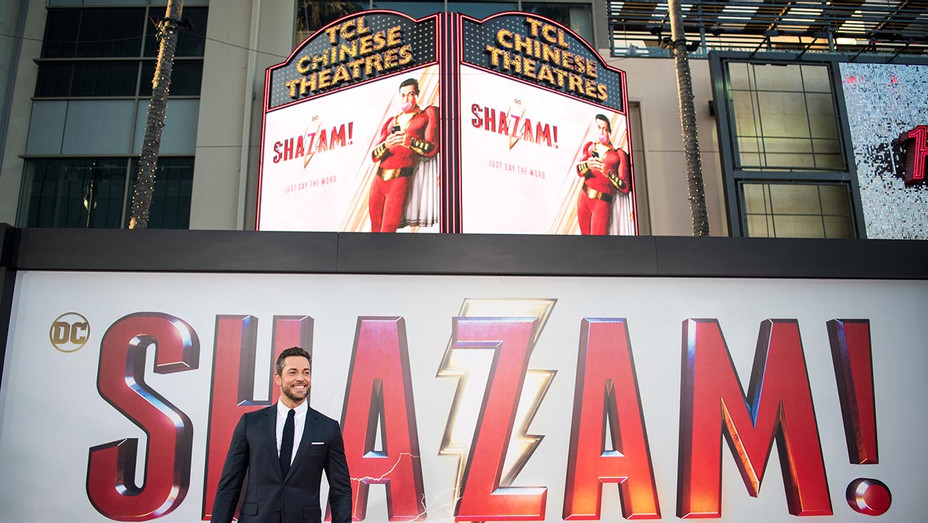 Zachary Levi arrives at Warner Bros. Pictures and New Line Cinema's world premiere of 'SHAZAM!' -Getty-H 2019