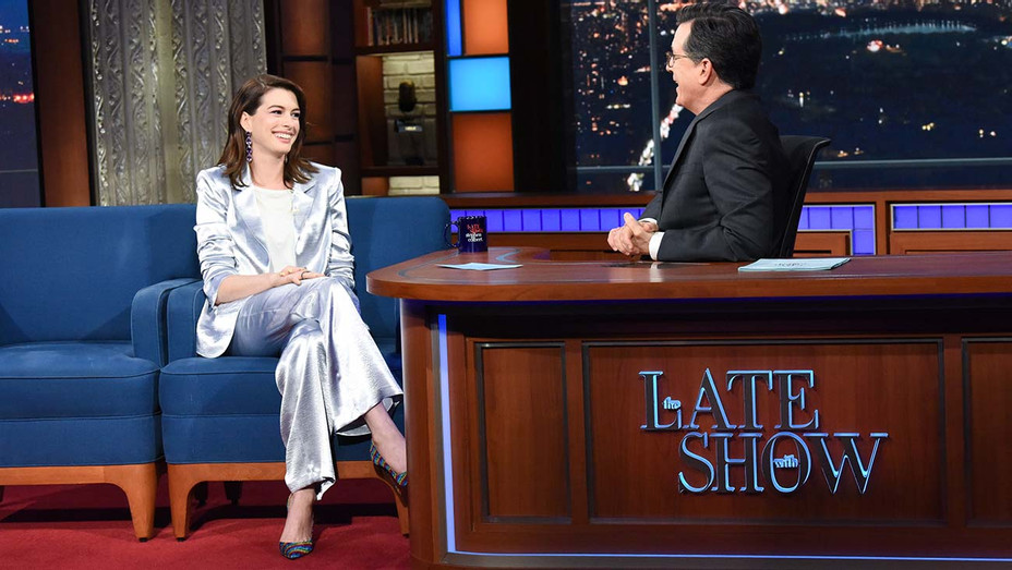 The Late Show - Stephen Colbert and Anne Hathaway - May 7, 2019- Publicity-H 2019