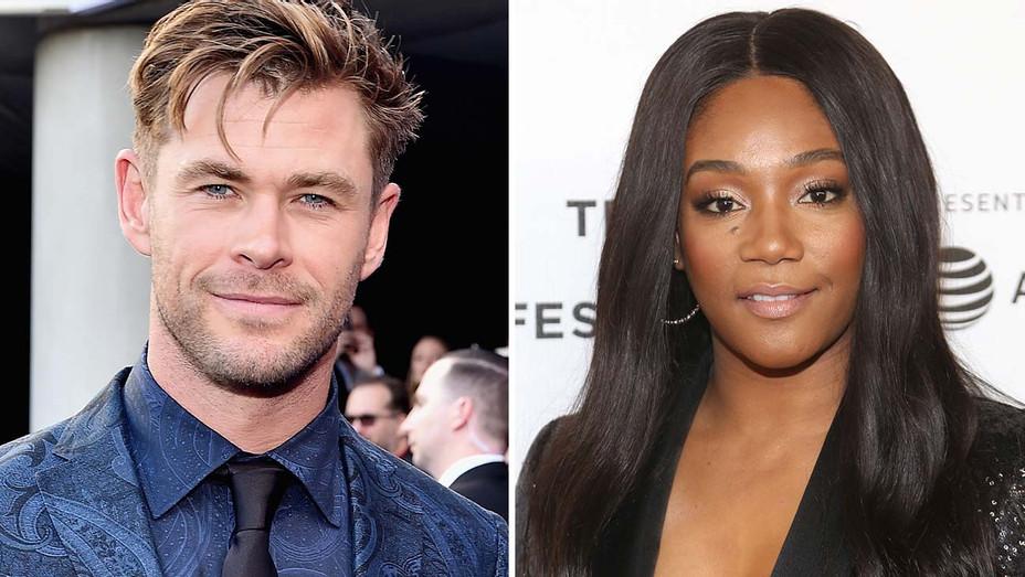 Chris Hemsworth and Tiffany Haddish -Split-Getty-H 2019