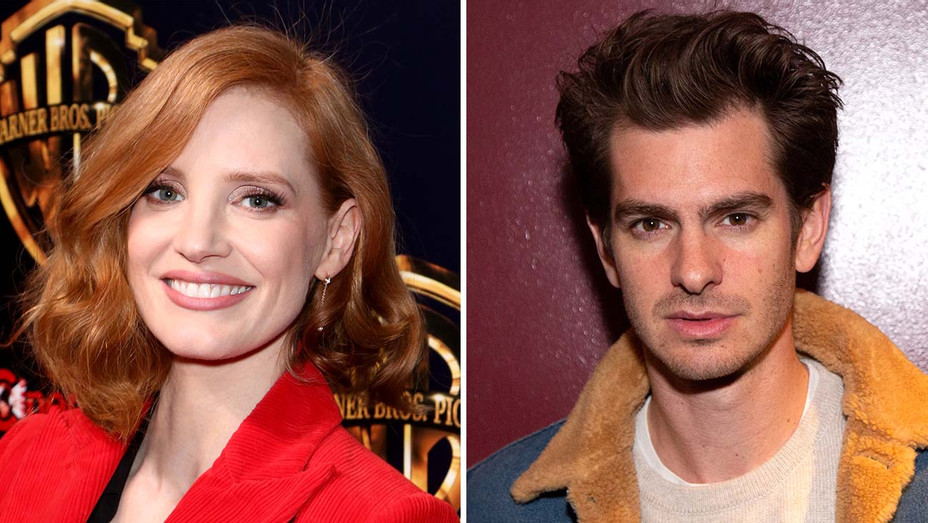 jessica chastain and Andrew garfield_Split - Getty - H 2019