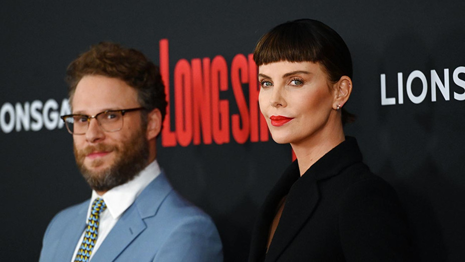 Actors Seth Rogen and Charlize Theron -Getty-H 2019