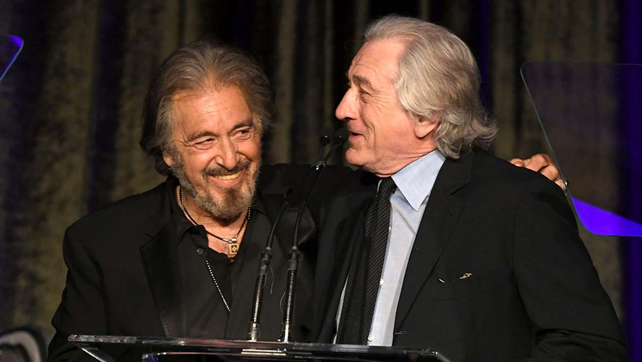 Al Pacino accepts the American Icon Award from Robert De Niro-Getty-H 2019