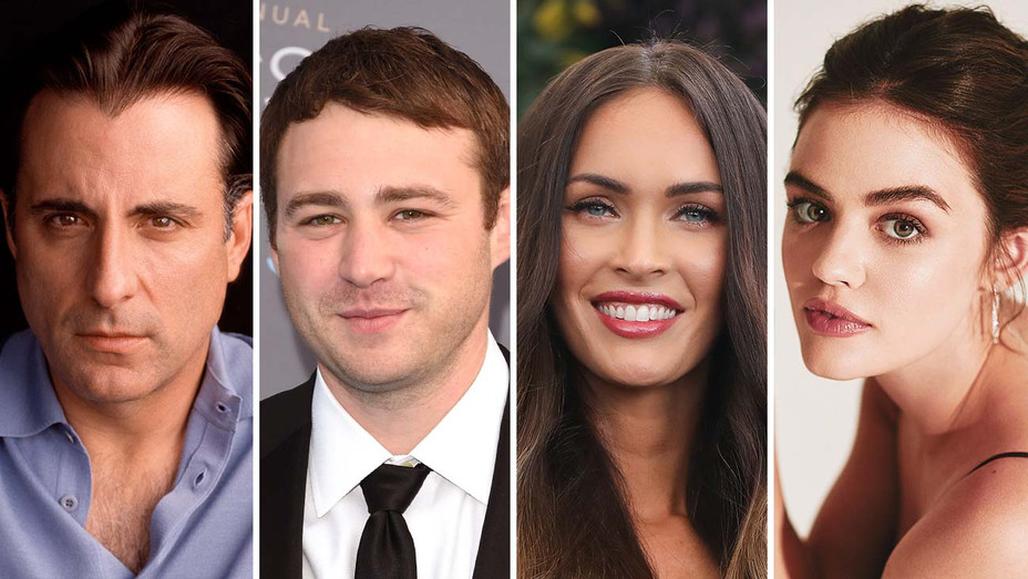 Andy Garcia, Emory Cohen, Megan Fox, and Lucy Hale_Split - Getty - H 2019