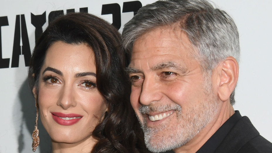 Amal Clooney and George Clooney at 'Catch-22' London premiere - H 2019