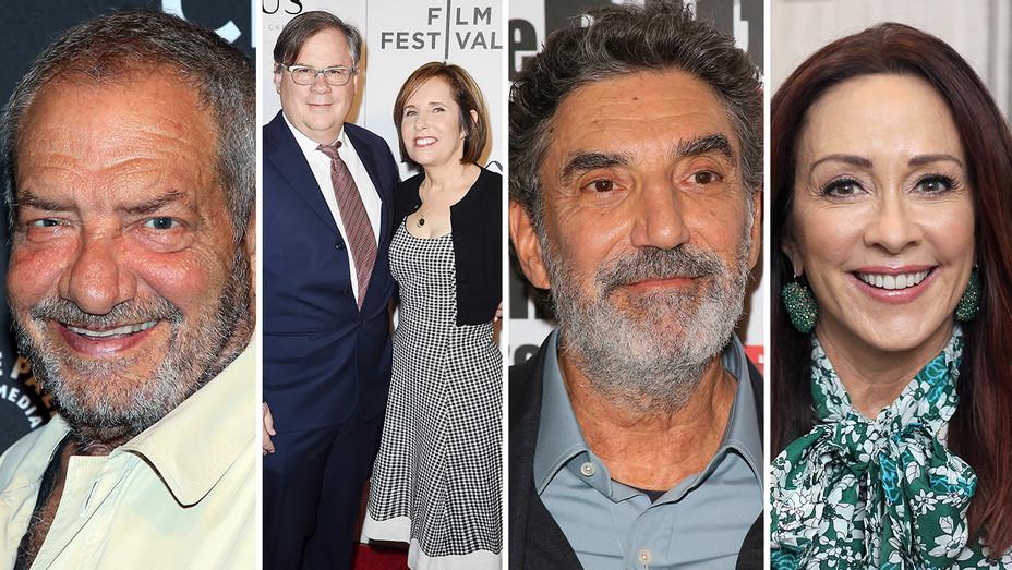 Dick Wolf Robert Michelle King Chuck Lorre Patricia Heaton Split - Getty - H 2019