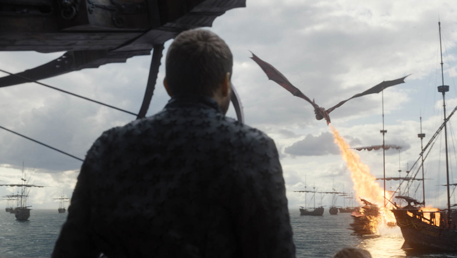 Game of Thrones - Dragon Breathing Fire on Ship - Season 8 Episode 5 - H Publicity 2019