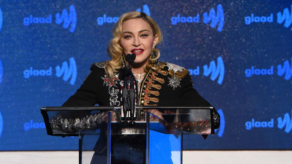 Madonna speaks onstage during the 30th Annual GLAAD Media Awards  - Getty -H 2019