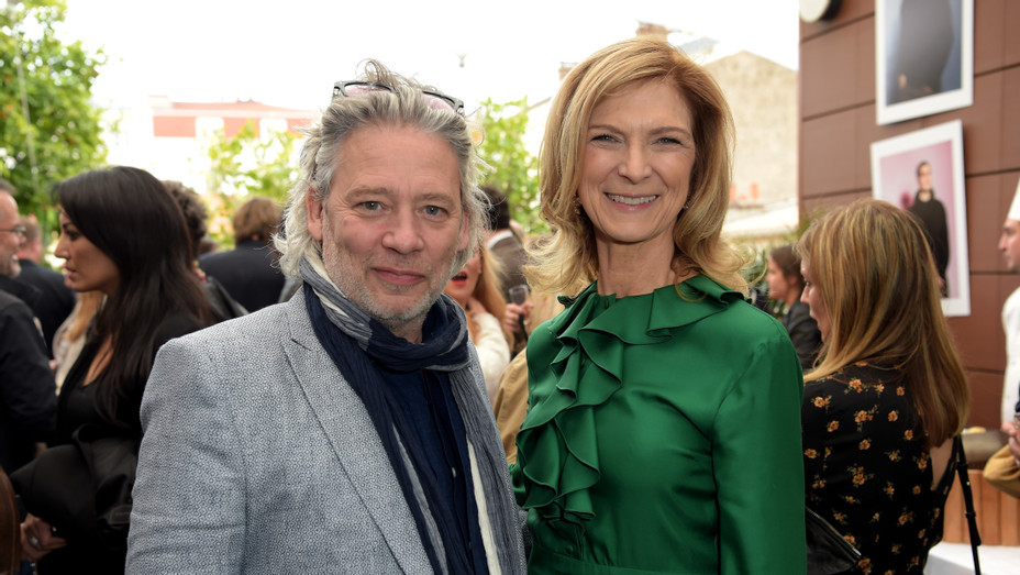 Dexter Fletcher, Dawn Hudson at Academy Member Soirée in Cannes - H 2019