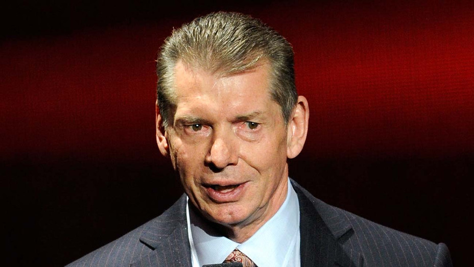 Vince McMahon speaks at a news conference announcing the WWE Network at the 2014 - Getty-H 2019
