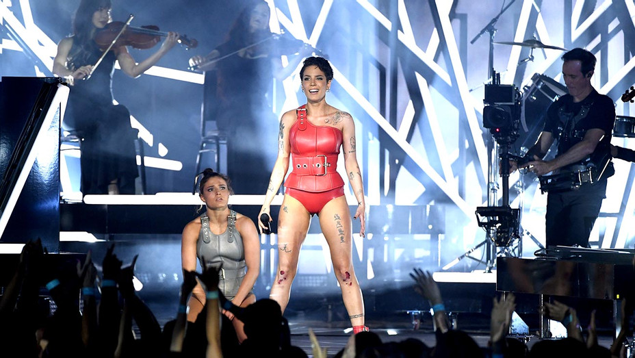 Halsey performs onstage during the 2019 Billboard Music Awards-Getty-H 2019