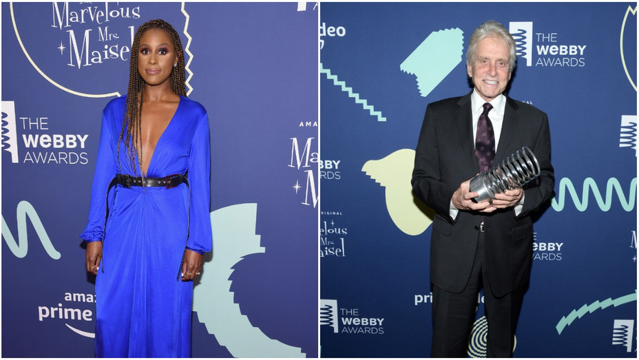 Issa Rae and Michael Douglas - Webby Awards - Getty - H - 2019