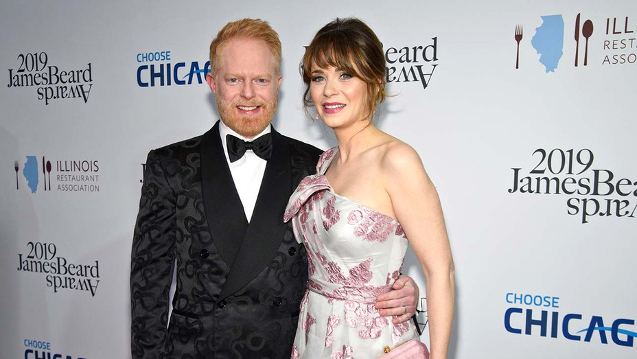 James Beard Awards-Jesse Tyler Ferguson and Zooey Deschanel -Getty_H 2019
