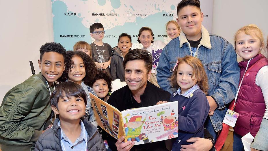 John Stamos and children attend Hammer Museum K.A.M.P. - H 2019