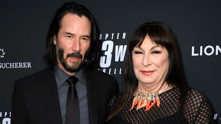 Keanu Reeves and Anjelica Huston-Getty-H 2019