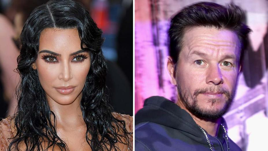 Kim Kardashian and Mark Wahlberg -Split-Getty-H 2019