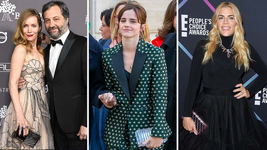 Leslie Mann - Emma Watson -  Busy Philipps-Split- Getty- H 2019
