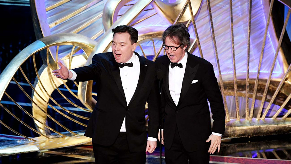 Mike Myers and Dana Carvey speak onstage during the 91st Annual Academy Awards-Getty-H 2019