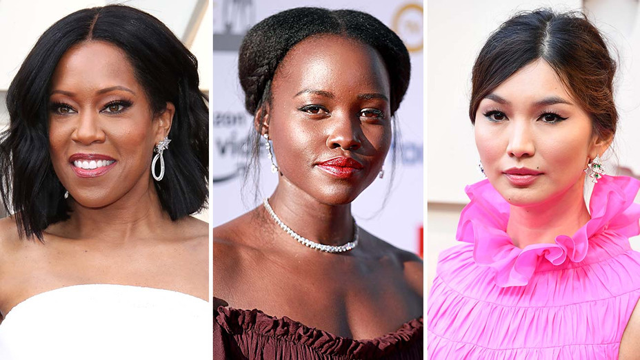 Regina King, Oscars 2019 - Lupita Nyong'o, NAACP Awards-Gemma Chan, Oscars 2019 -Getty-H 2019.psd