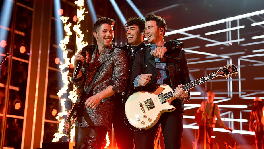 The Jonas Brothers perform onstage during the 2019 Billboard Music Awards -Getty-H 2019