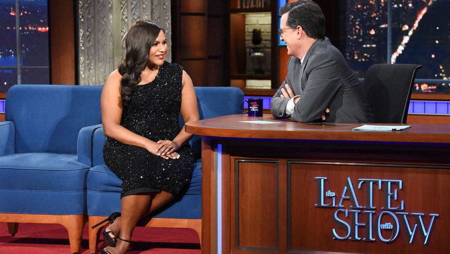 The Late Show Stephen Colbert Mindy Kaling - Publicity - H 2019
