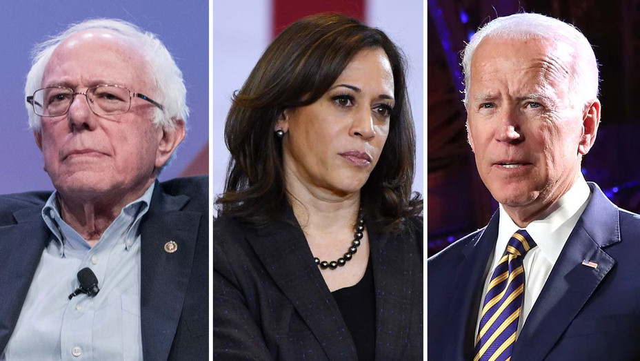 Bernie Sanders, Kamala Harris and Joe Biden-Getty-Split-H 2019