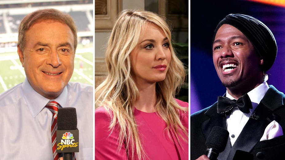 Al Michaels -Sunday Night Football-Kaley Cuoco on Big Bang Theory-Nick Cannon on The Masked Singer-Publicity Stills-Split-H 2019