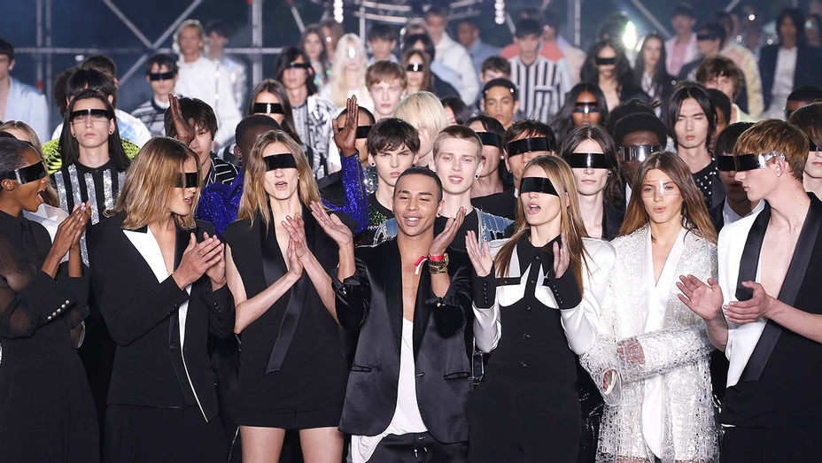 Atmosphere at the Balmain Homme show -Getty-H 2019