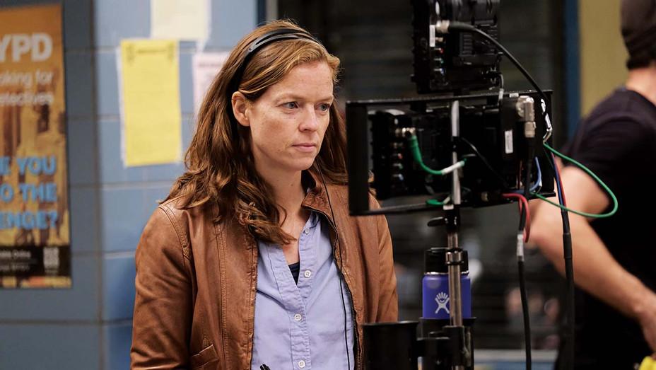 Claire Scanlon on the set of Brooklyn Nine-Nine-Publicity-H 2019