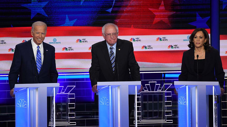 Democratic Debate Night 2_Joseph R. Biden Jr._Bernie Sanders_Kamala Harris - Getty - H 2019