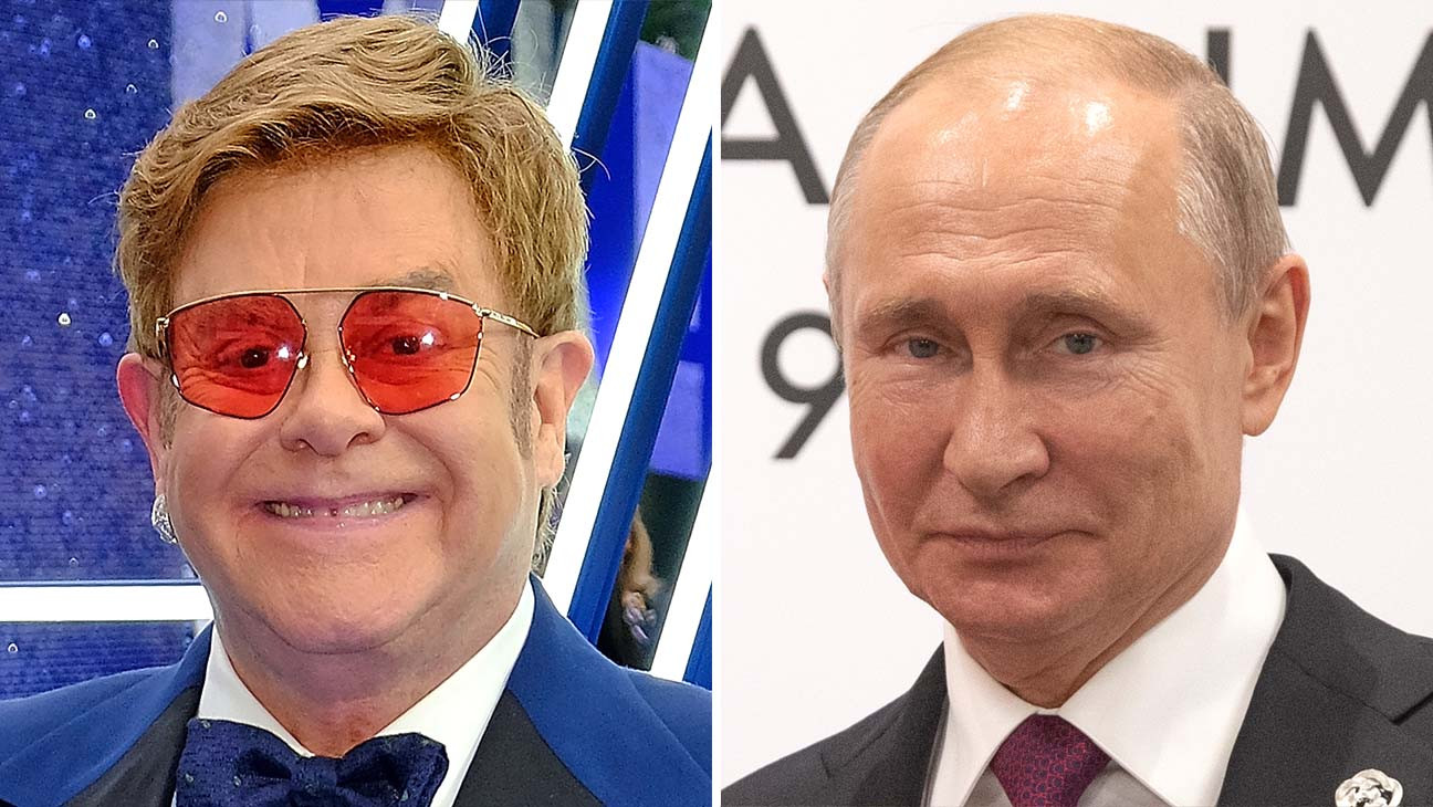 Vladimir Putin Says Elton John Is Mistaken Russia Is Very Neutral Toward Lgbt Community Hollywood Reporter