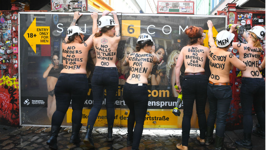 Femen Protestors in Hamburg
