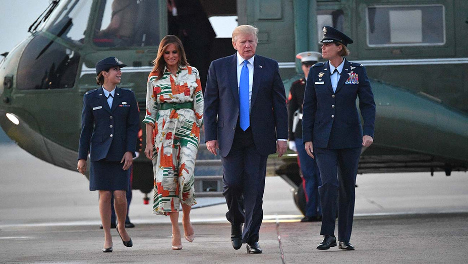 One Time Use Only -Donald Trump and First Lady Melania Trump -  Maryland on June 2, 2019 - Getty-H 2019
