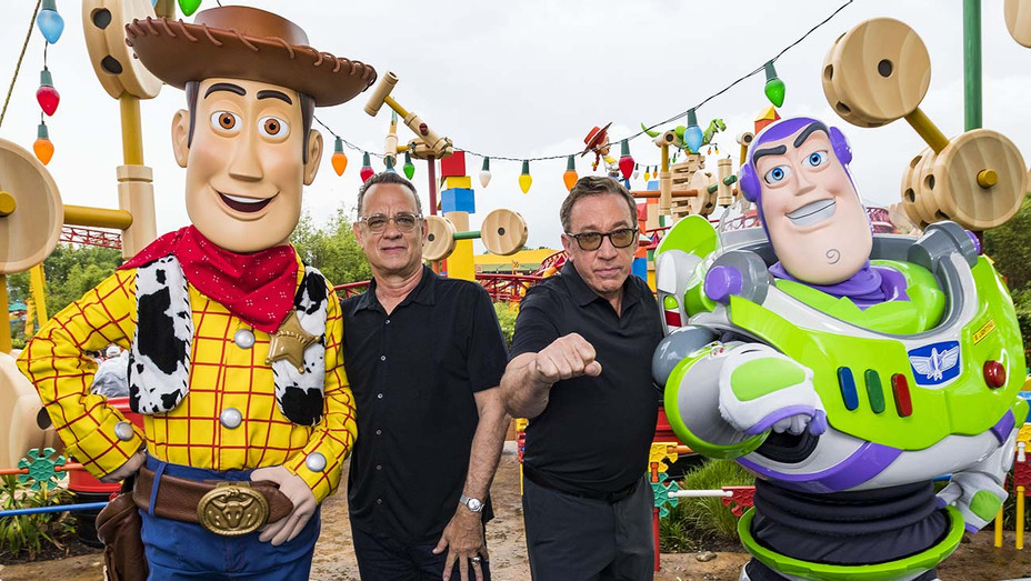 Disney Pixars Toy Story 4 Woody, Tom Hanks, Tim Allen and Buzz Lightyear -Getty-H 2019