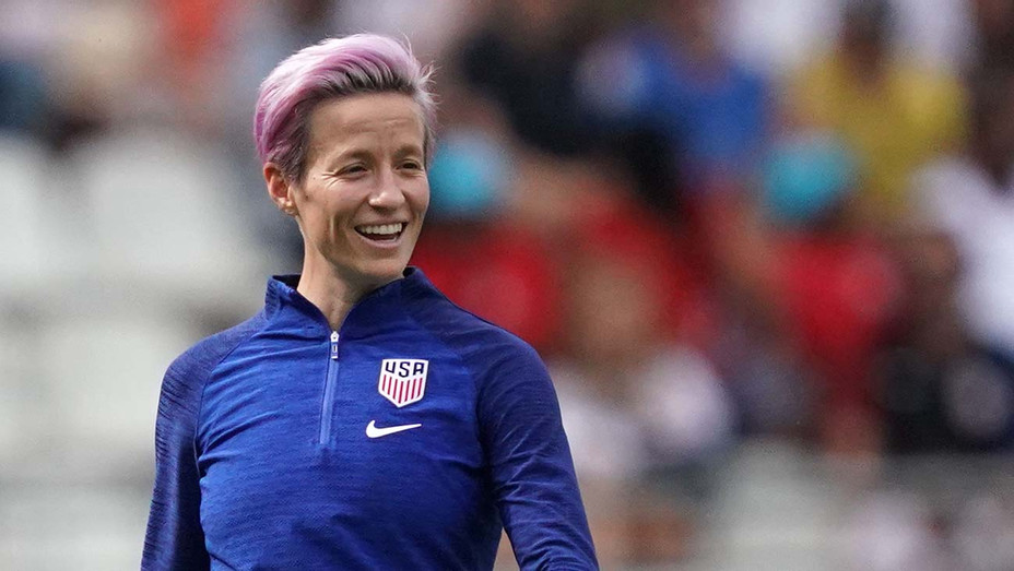 Megan Rapinoe warms up ahead of the France 2019 Women's World Cup 2- Getty-H 2019