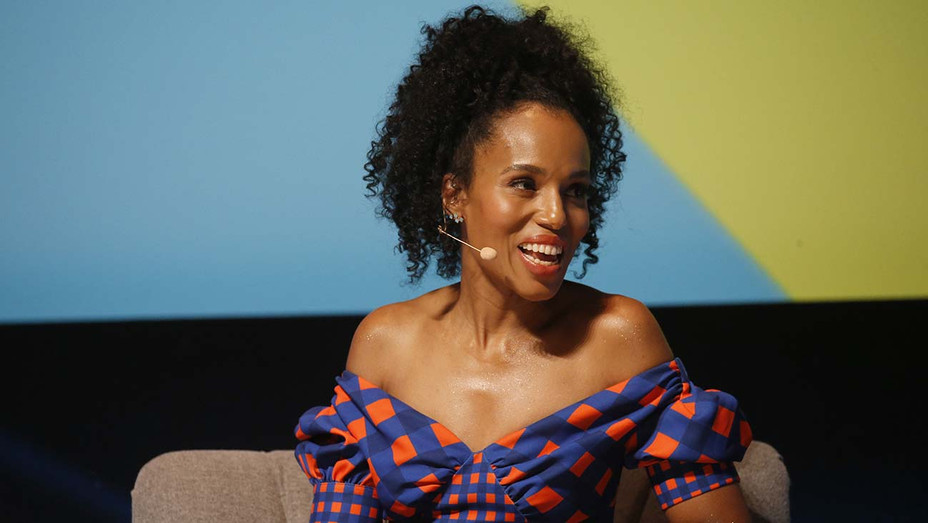 Kerry Washington speaks on stage during the Hulu session at the Cannes Lions 2019 - Getty-H 2019