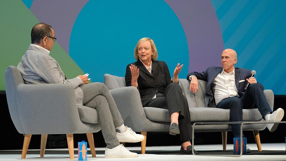 Meg Whitman Jeffrey Katzenberg Medialink Session Cannes Lions - Getty - H 2019