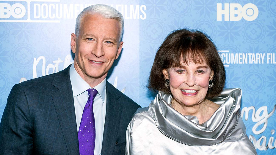 """Anderson Cooper and Gloria Vanderbilt attend """"Nothing Left Unsaid"""" Premiere - Getty-H 2019"""