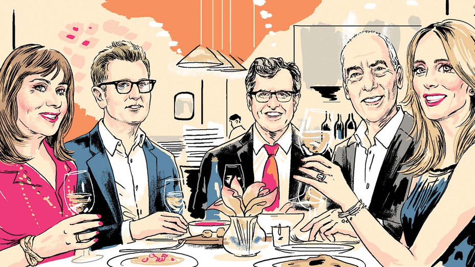 "30 Years of Dining and ""Woo""-ing at Toscana - Illustration by Agata Nowicka-H 2019"