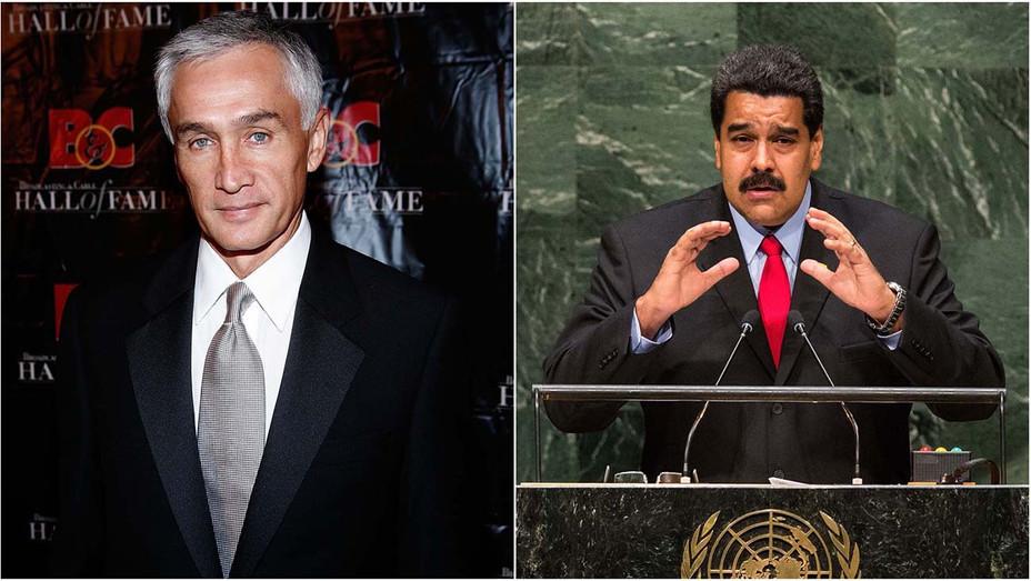 Jorge Ramos and Nicolas Maduro Split — Getty — H 2019