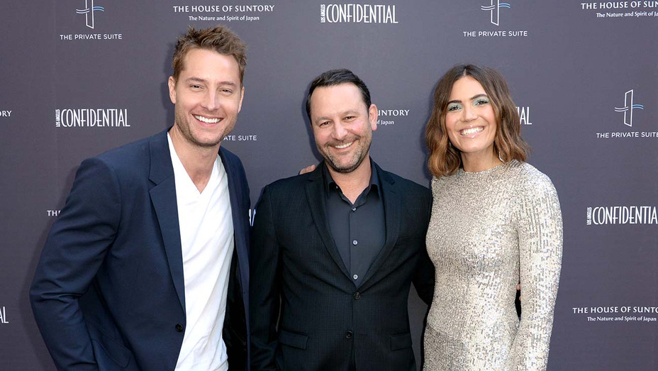 Justin Hartley, Dan Fogelman and Mandy Moore - Getty - H 2019