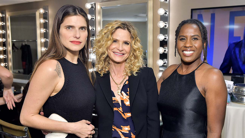 Lake Bell, Kyra Sedgwick and Hanelle M. Culpepper attend the 2019 Women In Film Annual Gala-Getty-H 2019