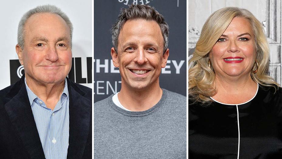 Lorne Michaels, Seth Meyers and Paula Pell Split- Getty-H 2019