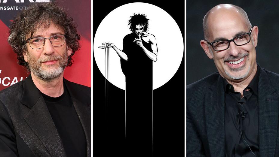 Neil Gaiman, Cover of Sandman #1 and David Goyer-H 2019