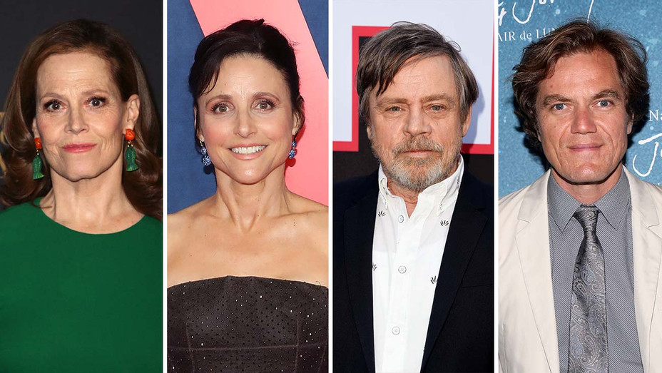 Sigourney Weaver, Julia Louis-Dreyfus, Mark Hamill and Michael Shannon_Split - Getty - H 2019