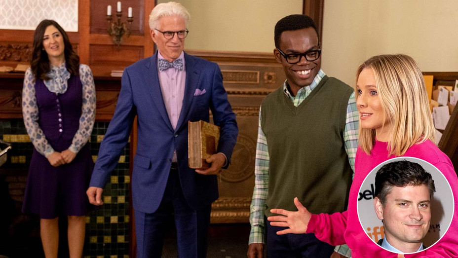 The Good Place-Mike Schur-Publicity Still-Inset-Getty-H 2019