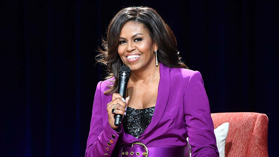 Former First Lady Michelle Obama attends 'Becoming: An Intimate Conversation with Michelle Obama' -Getty-H 2019