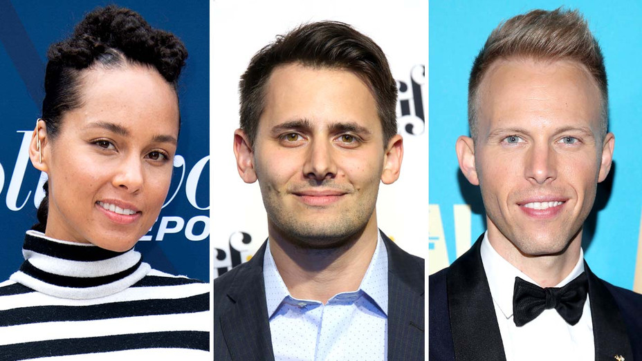 Alicia Keys, Benj Pasek and Justin Paul-Getty-Split-H 2019
